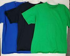 Boys Tee Shirt BLUE CREW NECK Fruit of the Loom 100/% Cotton S 6-7 L 10-12 XXL 18