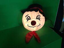 Christmas Holiday Lighted Light Scampy Scamp Snowman Lantern Nylon Home Decor