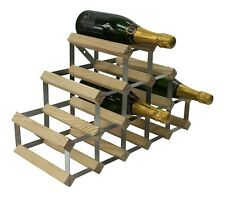 RTA 14 Bottle Traditional Wine Rack Natural Pine Wood Fully Assembled