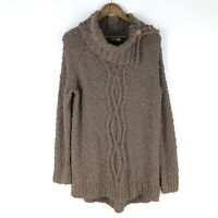 Moth Sweater Brown Knit Tunic Size Large Anthropologie
