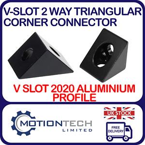 V-slot 2 Way Triangular Block Connector Aluminium Profile CNC, 3D Printers