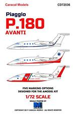 Caracal Decals 1/72 PIAGGIO P.180 AVANTI Italian Twin Turboprop