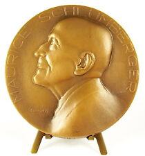 Médaille Maurice SCHLUMBERGER sc Merelle 99 mm 478 g bronze Medal