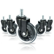 5-Pack Office Chair Caster Wheels Replacement for Hardwood Floors Laminate etc