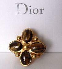 CHRISTIAN DIOR TIGERS EYE FASHION RING SIZE 7