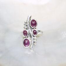 Rubin Ring, 925er Silber, Edelsteinring (21418), Edelsteinschmuck