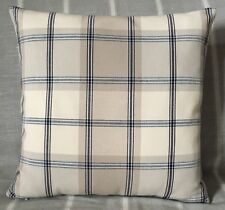 "John Lewis Harrow check Fabric cushion cover 16""x16"" Contemporary Navy"