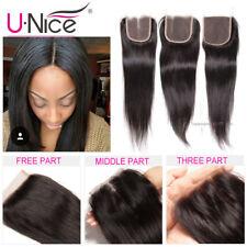 4x4 Brazilian Closure Straight Human Hair Free/Middle/Three Part 100% Human Hair