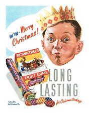 Rowntrees Frucht Zahnfleisch Klassisch Retro Werbe Poster Verschiedene Größen