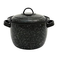 Bean Pot Granite Ware 4Qt Rounded Bottom Durable Porcelain Enamel On Steel
