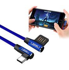 LEDELI Winkelstecker Schnellladekabel 90° geknickt USB-C Daten- Ladekabel Type C
