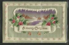 Vintage Postcard-Embossed 'Merry Christmas'{Early 1900's}Ghost Towns-Bingham,Ut