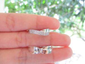 .30 CTW Diamond Wedding Ring 14k White Gold WR51 sep (MTO)