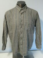 Mens Sir Pendleton Button Front Plaid Fine Worsted Wool Plaid Shirt Size XL