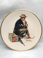 "Norman Rockwell 8-1/2"" Collector's Plate ""Pals"" man & his dog-Gorham China-New"