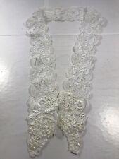 1yd Pearl Bead Trim Ribbon Applique Emblleishment Sewing Garment Accessories