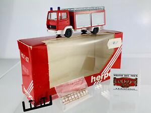 179 HERPA H0 828018 - Camion De Pompier - Modèle De Vitrine - Ovp