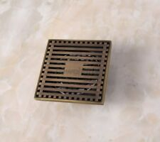 Antique Brass Square Bathroom Floor Drain Waste Grate Shower Drainer nhr034