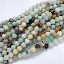 "15"" Strand Natural Amazonite Loose Beads Round 6mm"