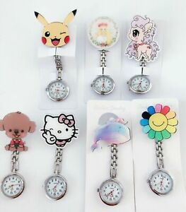 Cute Fob Pendant Chain Clip on Pocket Nurse Watch Brooch Clip Clasp Gift her