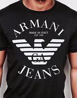 Black Emporio Armani Men's T-shirt Size M,L,XL