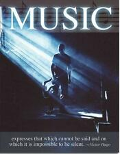 Music Expresses That Which Cannot Be Said Victor Hugo Quote Tin Metal Sign New