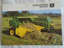 John Deere 342A Baler brochure Sep 1980 English text