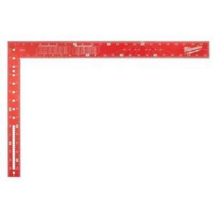Milwaukee Aluminum Framing Square 16 x 24 Inch Measuring Tool Layout Job Work