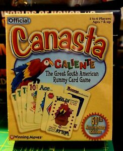 Canasta Caliente Card Game Official 50th Anniversary Winning Moves Sealed Cards