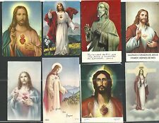 8 holy card del Sagrado Corazon de Jesus santino image pieuse estampa