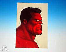 Red Hulk Mondo Mike Mitchell Portrait Print Marvel Comics Rare Giclee Proof