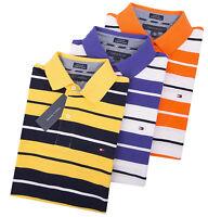 Tommy Hilfiger Men's Short Sleeve Stripe Pique Polo Shirt - $0 Free Ship
