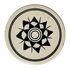 Indiavibes Carrom Board Striker Ivory Color With Design + 1 Wristband Free UK