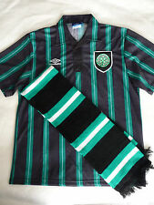 Celtic FC  Umbro Trikot / Shirt. Size L  Away Shirt 1992 / 1993 + Schal