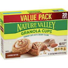 Nature Valley Granola Cups, Almond Butter, 12.4 oz, 20 Cups