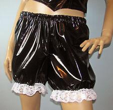 Black pvc bloomers knickers fancy dress sissy