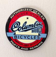 NEW COLUMBIA BUILT bicycle MAGNET antique logo