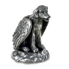 PEWTER Angel LABRADOR RETRIEVER Lab Dog Figurine Statue