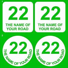 Vinyl lettering for dustbins & wheelie bin house number