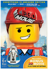 The Lego Movie (Everything Is Awesome Edition) (3D Blu-ray + Lego Figurine + DVD