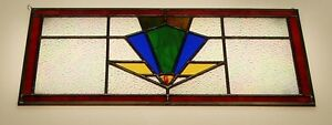 New! Art Deco Stained Glass window, in stunning colors!