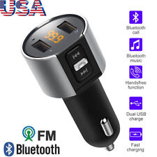 Wireless Bluetooth FM Car Kit Transmitter AUX Radio MP3 Player Dual USB Charger