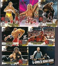 WWF WRESTLE MANIA FLEER '01 BASE GOLD PARALLEL 7 CARD LOT #66 78 81 82 91 95 97