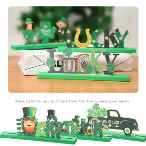 St. Patrick's Day Creative Wooden Decorations Green Home Decoration Crafts Lot