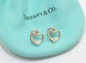 Tiffany & Co. Sterling Silver Elsa Peretti Open Heart Earrings