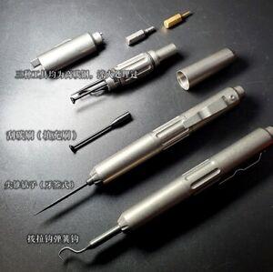 EDC Titanium Alloy Hook Screwdriver Bit Outdoor Multi-functional Tools