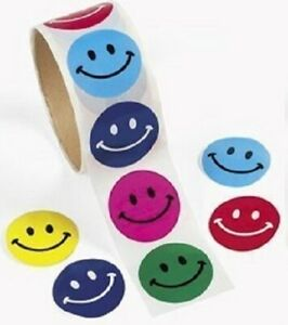 Smile Face Roll Stickers -100 count