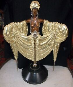 """ERTE GOLD PATINATED  NUDE  """"RADIANCE"""" -337/375 C 1988- HEIGHT  22.75"""" SIGNED"""