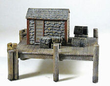 LOBSTER SHACK HO Scale Model Railroad Unpainted Cast Resin Structure Kit FR521