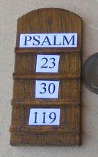 1:12 Scale Wooden Psalms Board Tumdee Dolls House Miniature Church Accessory
